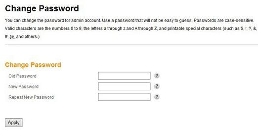 change the arris router default password