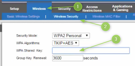 Change the Linksys Wi-Fi password