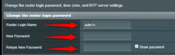 Change the Asus router admin username and password