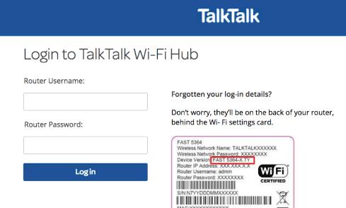 TalkTalk Roter Login