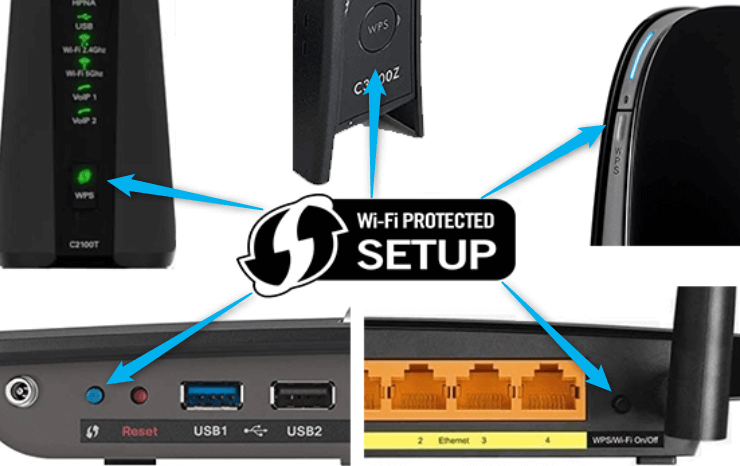Where is the WPS button on a router