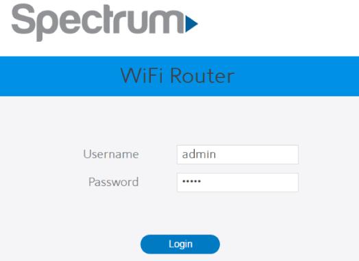 spectrum router login