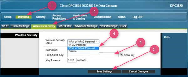 change wifi password in cisco router