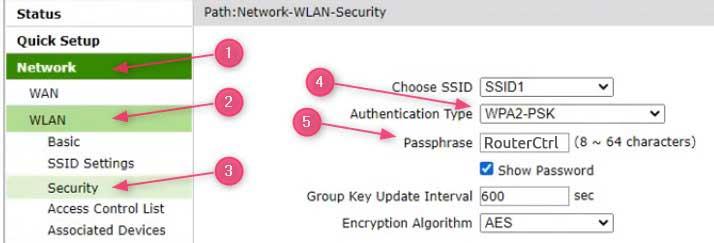 Change wifi password on ZTE router