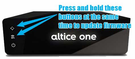 Altice one router update firmware