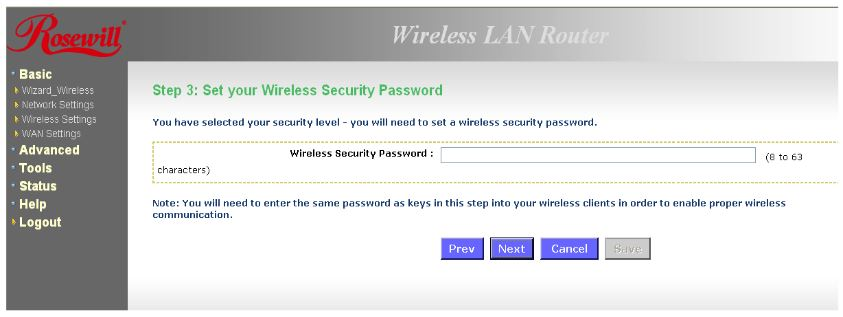 Enter new password and click Next