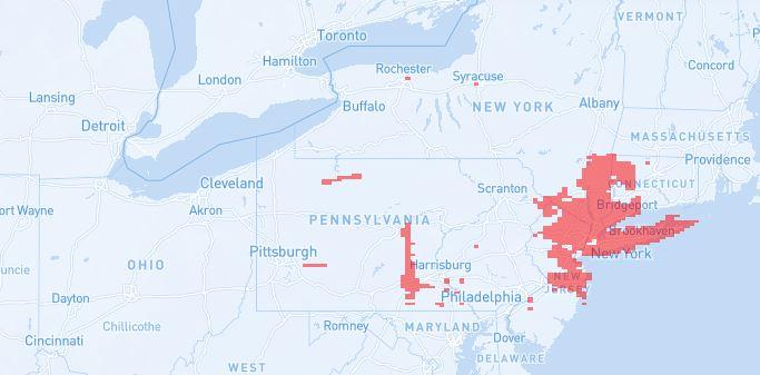 Optimum cable internet coverage map