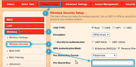 iBall batton router change WiFi password