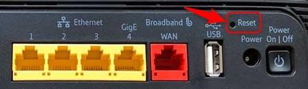 reset button on BT Hub 4