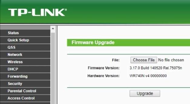 tp-link firmware upgrade