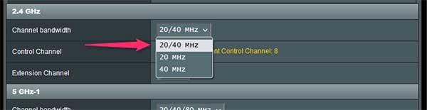 2.4ghz channel setup
