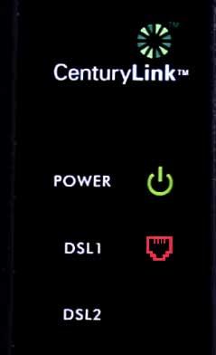 CenturyLink DSL light red