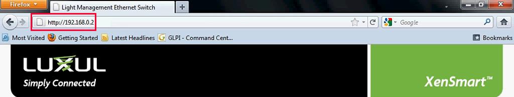 Enter the default gateway