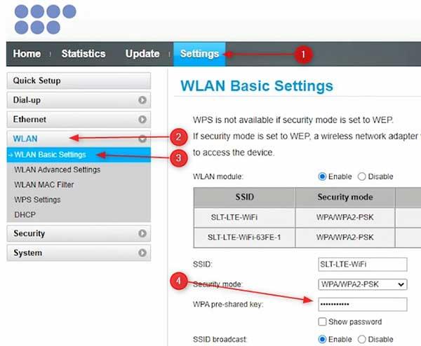 How to Change SLT Wi-Fi Password