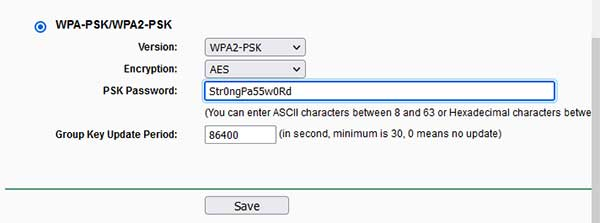 How to Configure Router to Use WPA2