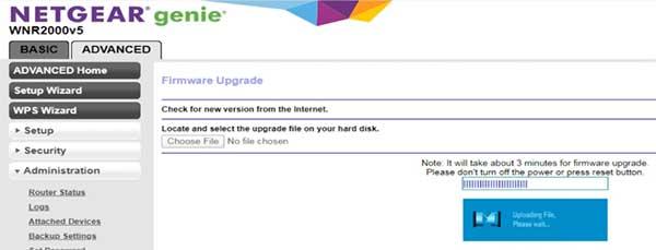 Netgear Firmware Update Stuck