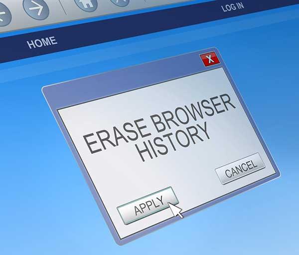 erase browsing history
