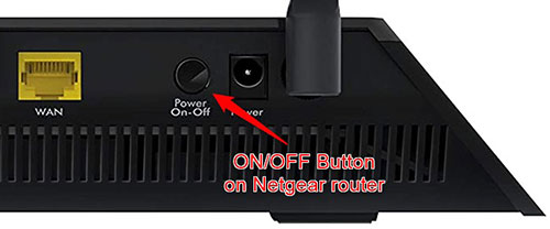 on off button on netgear router