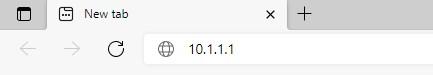 10.1.1.1 in URL bar