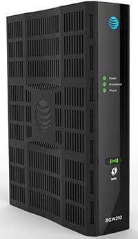 AT&T Broadband blinking green