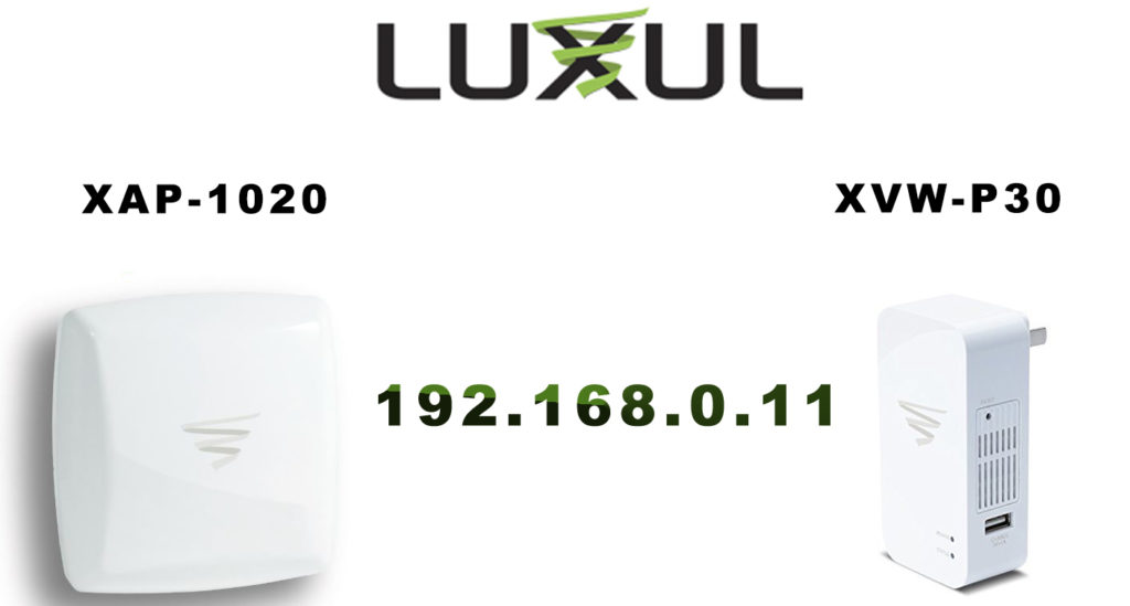Luxul devices use this address as a default IP