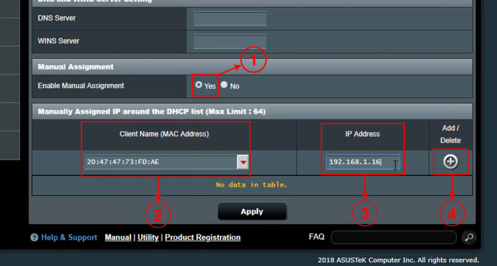 Manually Assigned IP around the DHCP pool'