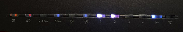 Netgear router lights