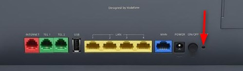 Vodafone router reset button