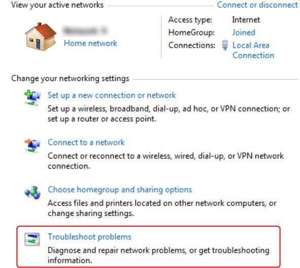 Windows 7 troubleshooter