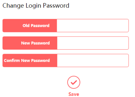 Change the Mercusys router login password