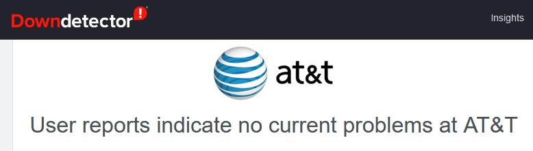 downdetector AT&T no outage