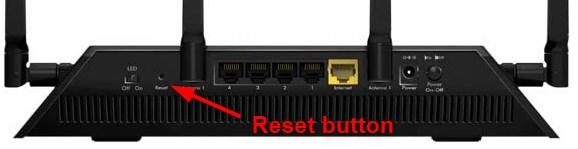 netgear nighthawk factory reset button
