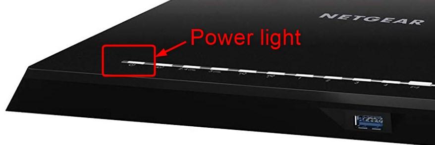 netgear nighthawk router power light