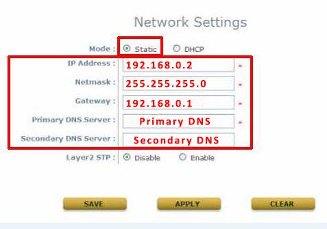new IP address