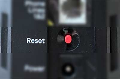 reset button on AT&T Arris BGW210