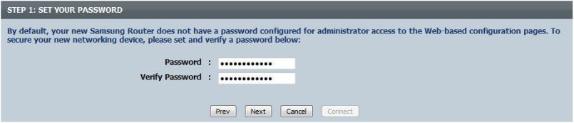 set your router's password