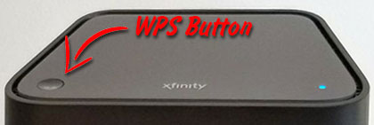 wps button on Xfinity router