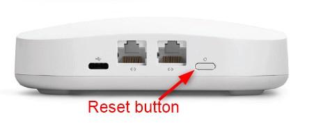 Eero reset button