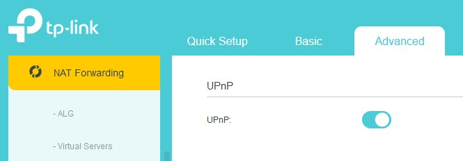 Enable UPnP on TP-Link