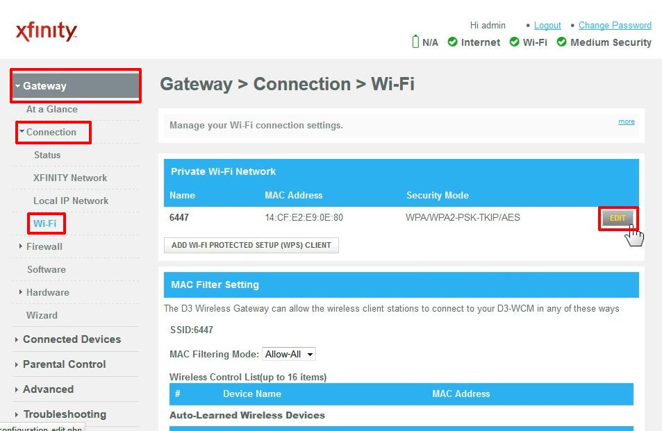 Private Wi-Fi network