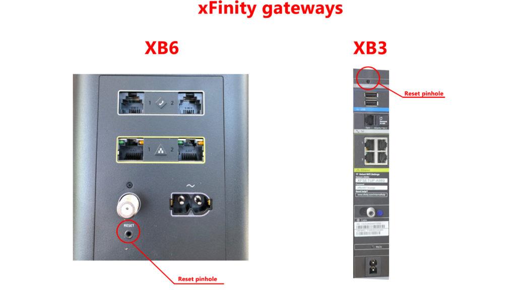 Xfinity gateways