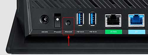 asus router factory reset reset button